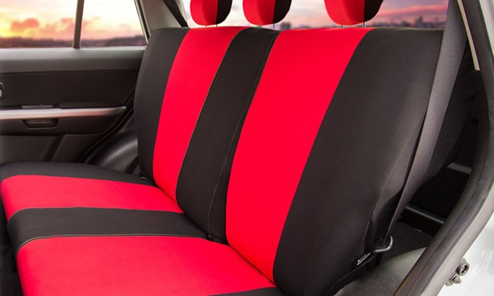 Universal Full Coverage Split Bench Cover Set For SUVs 9 Piece