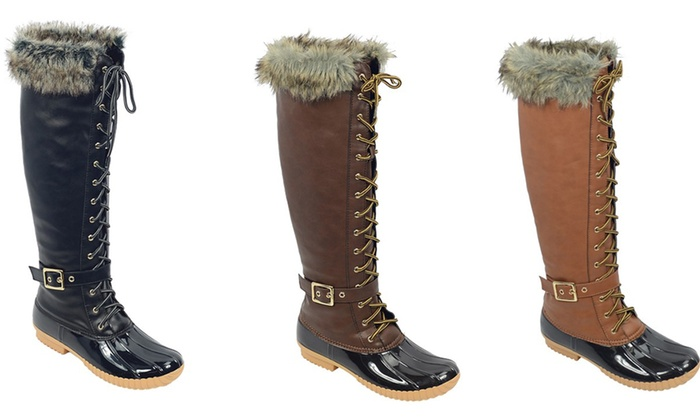 Mata Women's Cold-Weather Waterproof Snow Tall Boots | Groupon