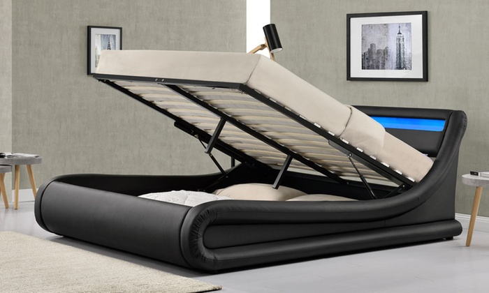 Up To 41 Off Madrid Led Ottoman Storage Bed Groupon