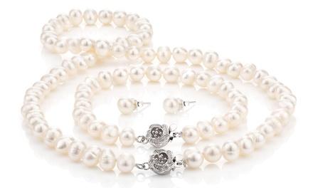 Parure di perle barocca disponibile in vari colori