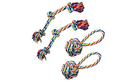 Dog Rope Chew-and-Tug Toy (4-Pack)