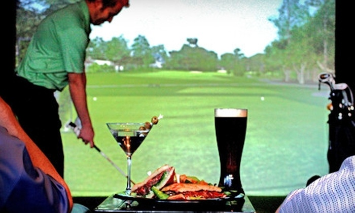 Swingers Sports Lounge and Grill - Lone Tree: Golf Simulator Session and $20 Worth of Bar Food, or $15 for $30 Worth of Bar Food at Swingers Sports Lounge and Grill