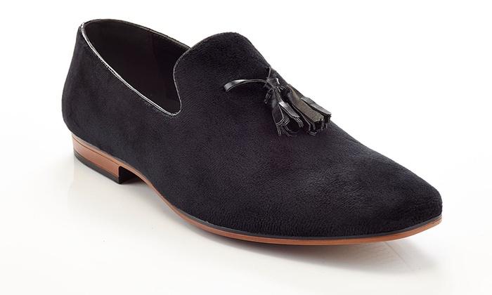 Henry Ferrera Slip-On Loafer Smoking Shoe with Tassels (Sizes 12 & 13)