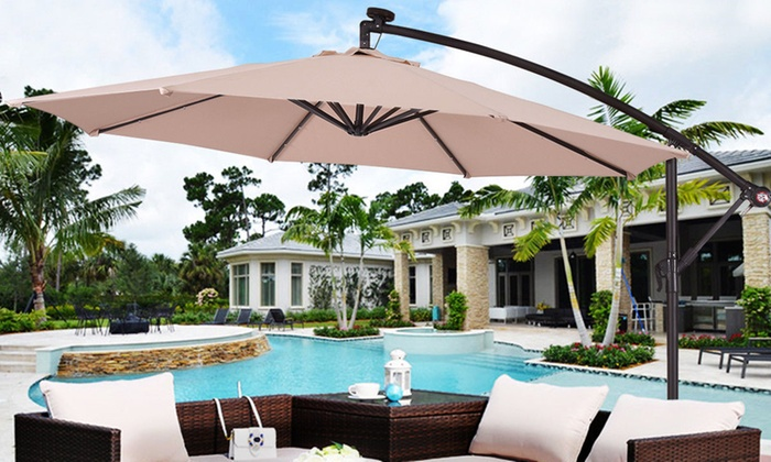da38f21e7b838 Up To 23% Off on Costway Umbrella Patio Sun Shade | Groupon Goods