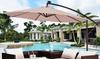 10' Hanging Solar-Powered LED Patio Umbrella