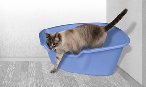 Van Ness Space-Saving High-Sided Corner Cat Pan
