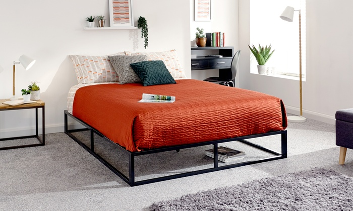 Industrial Platform Bed Frame with Optional Mattress