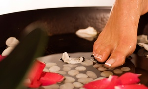 Healthy Health Centre: Classic or Gelish Mani-Pedi with Optional Paraffin Treatment at Healthy Health Centre (Up to 72% Off)