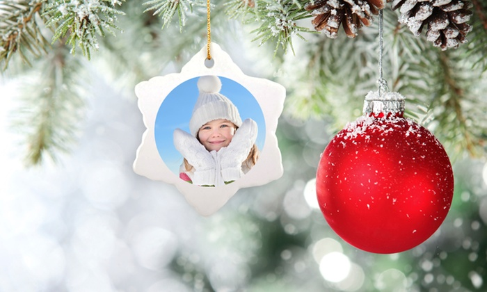 MailPix: Custom Christmas Ornaments from MailPix (Up to 69% Off). Four Options Available.