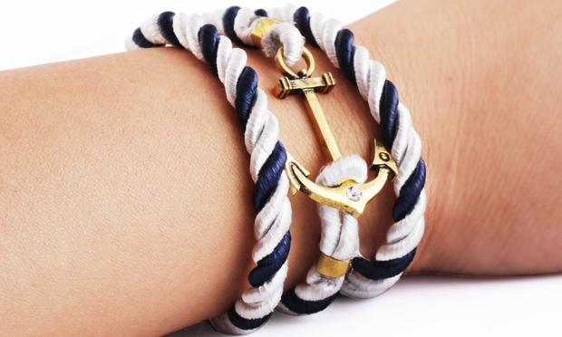 maritimes armband mit anker dealmix. Black Bedroom Furniture Sets. Home Design Ideas