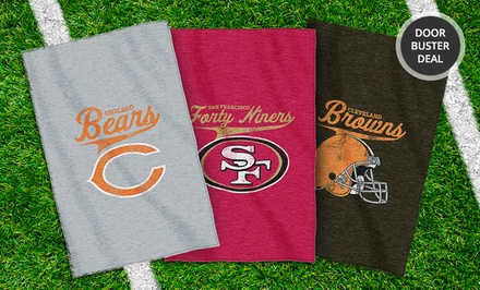 NFL Sweatshirt Throw Blanket. Multiple Teams Available. Free Returns.
