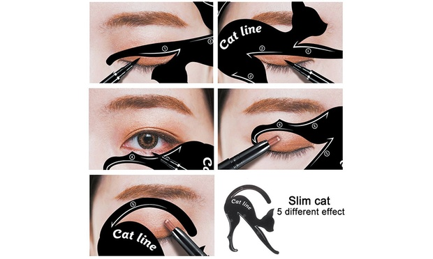 Free Shipping: Cat Eyeliner and Eyeshadow Stencil Template Applicators: Two Pack ($10.95) or Four Pack ($15.95)