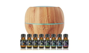 Art Naturals Diffuser and 8-Pack Oil Gift Set
