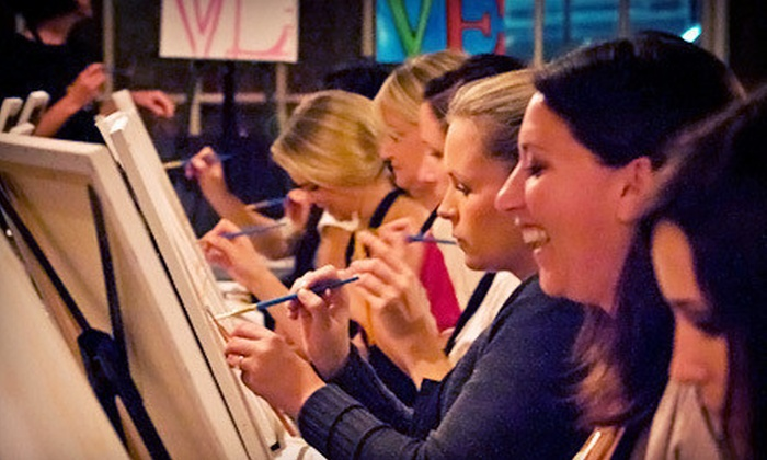 Art Uncorked San Diego - Pacific Beach: Three-Hour Painting Class at Wine Bar or Restaurant for One or Two from Art Uncorked San Diego (Up to 56% Off)