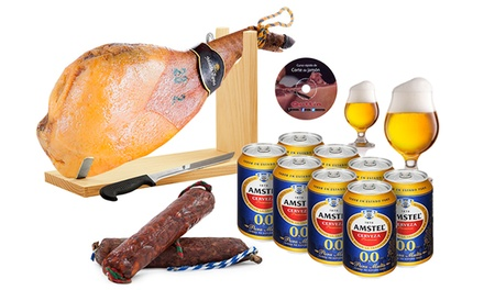 Gourmet pakket met ham, worstjes en alcoholvrij bier