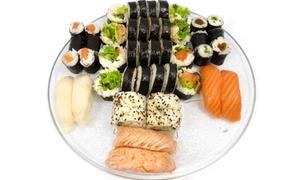 Tata Sushi: Wybrany zestaw sushi z napojem aloesowym i dostawą od 47 zł w Tata Sushi (do -39%)