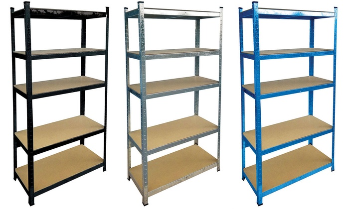 vida galvanised garage shelves groupon goods. Black Bedroom Furniture Sets. Home Design Ideas