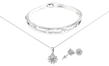 Cassi Three-Piece Jewellery Set Made with Crystals from Swarovski®