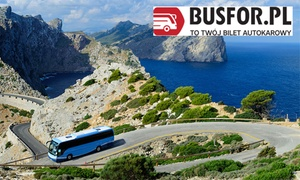 Busfor: Bilety autobusowe krajowe i międzynarodowe: 5 zł za groupon wart 25 zł na 1 zamówienie i więcej opcji w serwisie Busfor