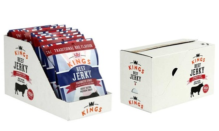 16 Packets Kings BBQ Beef Jerky for £17.49 (49% Off)