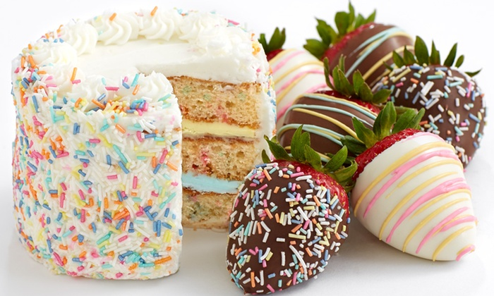Shari's Berries: Birthday Cakes and Gourmet Dipped Strawberries from Shari's Berries (58% Off)