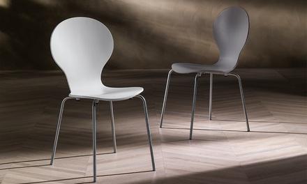 Set di 4 sedie impilabili
