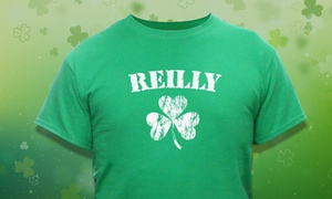 Personalized Irish Shamrock Shirt  at GiftsForYouNow.com, plus 6.0% Cash Back from Ebates.