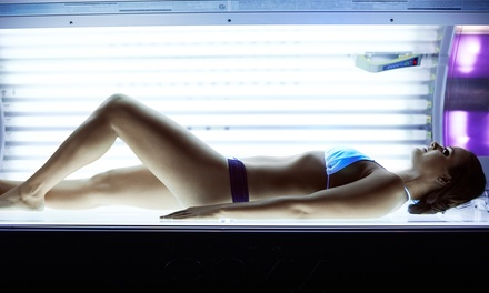 One Month of Tans in a Super or Mega Bed, or One or Three Tans in a High-Pressure Bed at Tanning Zone (Up to 56% Off)