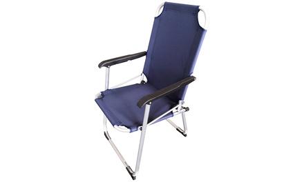 Set di 2 sedie pieghevoli Oxford con braccioli e struttura in acciaio