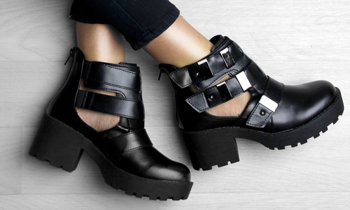 d49be1be0c4 Women's Cut-Out Ankle Boots | Groupon Goods