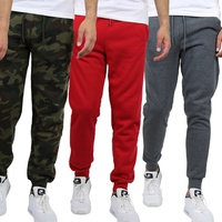 Groupon.com deals on Galaxy By Harvic Mens Regular-Fit Fleece Jogger Sweatpants