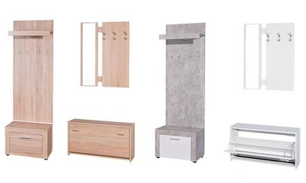 Set di mobili da ingresso Amber composto da specchio, scarpiera e ...