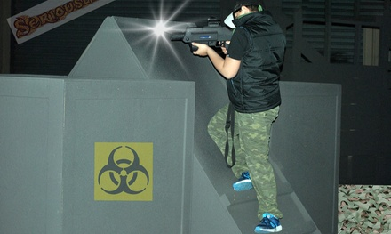 1Hr Laser Tag $15 or 10 Ppl $100, to Add Inflatables $19 or 10 Ppl $139 @ Mega Courts Indoor Sports