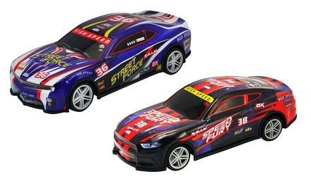 Lot de 2 voitures de course Furious Warriors télécommandés
