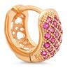 18K Gold Plated Corundum Huggie Earrings by Steeltime