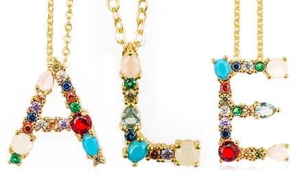 Collana placcata in oro 18 ct disponibile con diversi ciondoli con confezione regalo