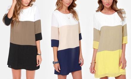 1 of 2 driekleurige Olivia jurk voor dames vanaf € 16,99 korting