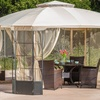 Somerset Outdoor Steel Gazebo Canopy with Cover