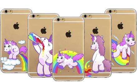 Cover für iPhone mit lustigem Einhornmotiv (bis zu 75% sparen*)