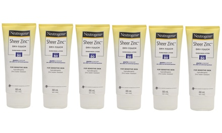 $14 for Six Neutrogena Sheer Zinc Dry-Touch Sunscreen Lotions SPF 50 (Don't Pay $72)