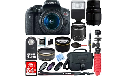 Canon EOS Rebel T6i 24.2MP 1080p DSLR Camera with Lens Kit