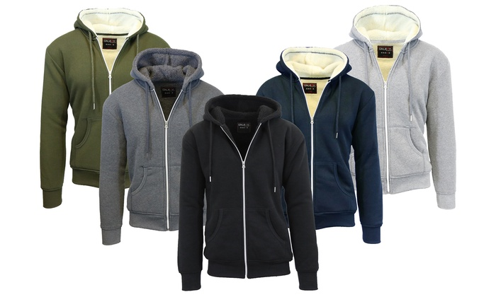 Men's Heavyweight Sherpa-Lined Zip Hoodies (2-Pack)