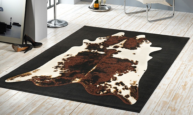 teppich kuh oder zebrafell look groupon goods. Black Bedroom Furniture Sets. Home Design Ideas