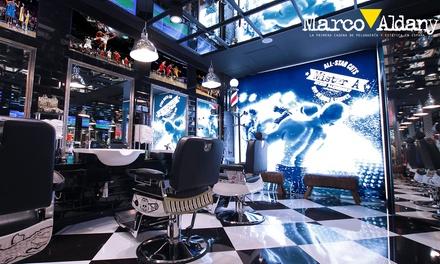 Marco Aldany: sesión de peluquería para hombre con lavado, corte, diseño de barba y tinte desde 7,95 € en toda España