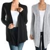 Sofras Women's Asymmetrical Open Cardigan