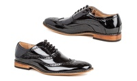 Gino Vitale Mens Lace-Up Oxford Dress Shoes