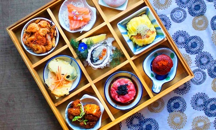 ThreeCourse Japanese Meal with Wine for Two $68 or Four People $130 at Ginza Izakaya Up to $229.60 Value