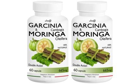 1 o 2 packs de 60 cápsulas de garcinia cambogia y moringa oleifera Line@Diet