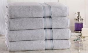 New Super Absorb 100% Zero Twist Oversized Bath Sheets (4-Pack)