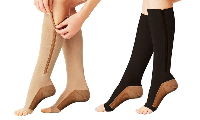 c29a112bcc Up To 80% Off on Copper-Infused Compression Socks   Groupon Goods